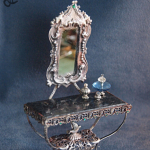 Mirror Table Silver Turquoise