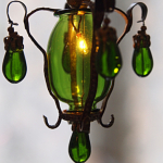 Ceiling Lamp Green Drop